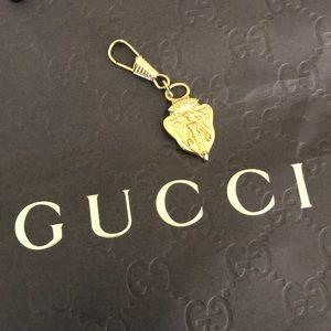 ~GUCCI~ Vintage Crest~Charm~Zipper Pull~Key Chain